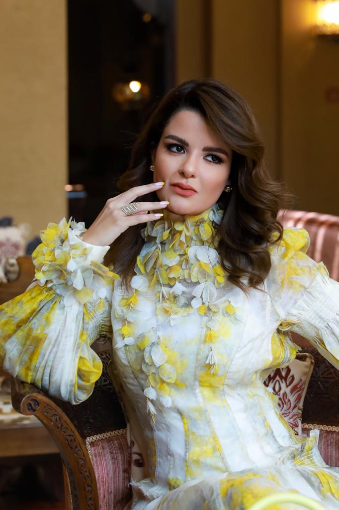 Sarah Abdallah, one of the most influential Arab fashion icons