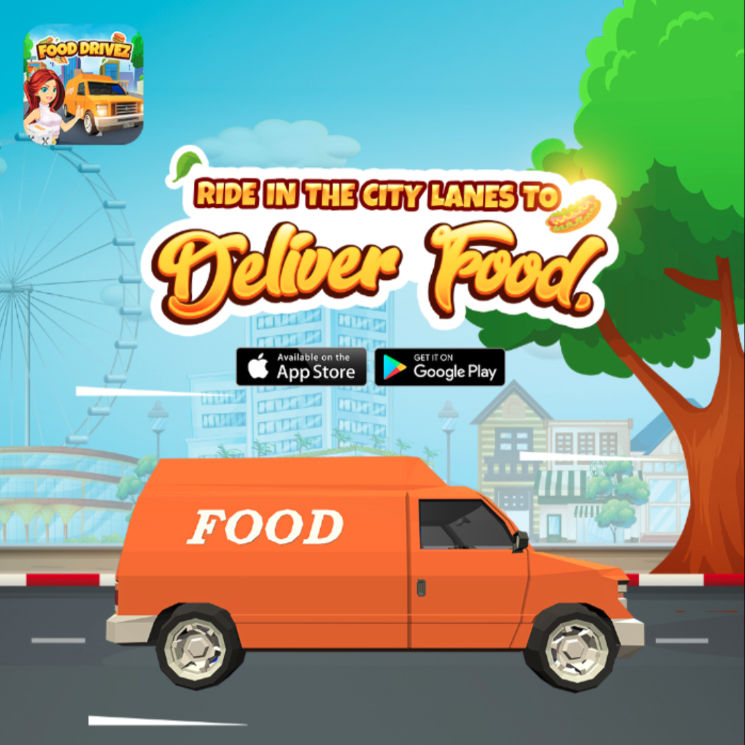Play Favourite Food Delivery Game on Mobile to defeat hunger in the Real World - Food DriveZ