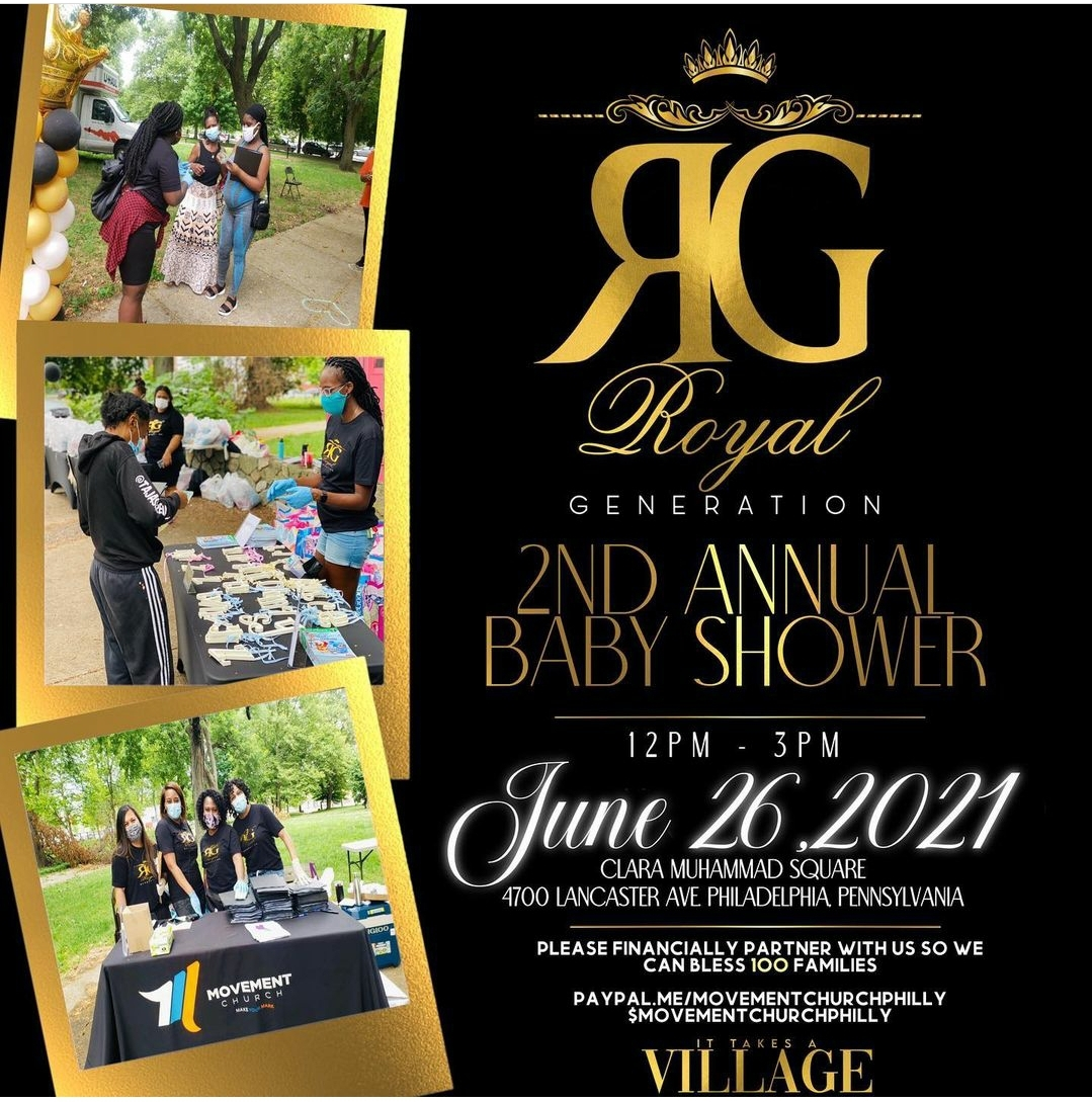 Movement Church Philly Organizes 2nd Annual Royal Generation Community Baby Shower