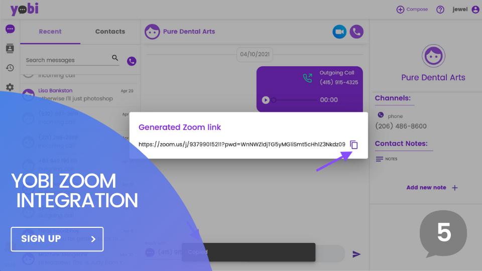 Yobi Inc. Announces The Revolutionary Yobi Zoom Integration
