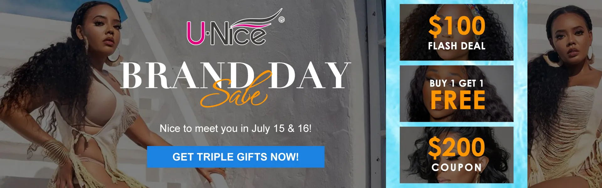 Enjoy special deals on UNice Super Brand Day Sale