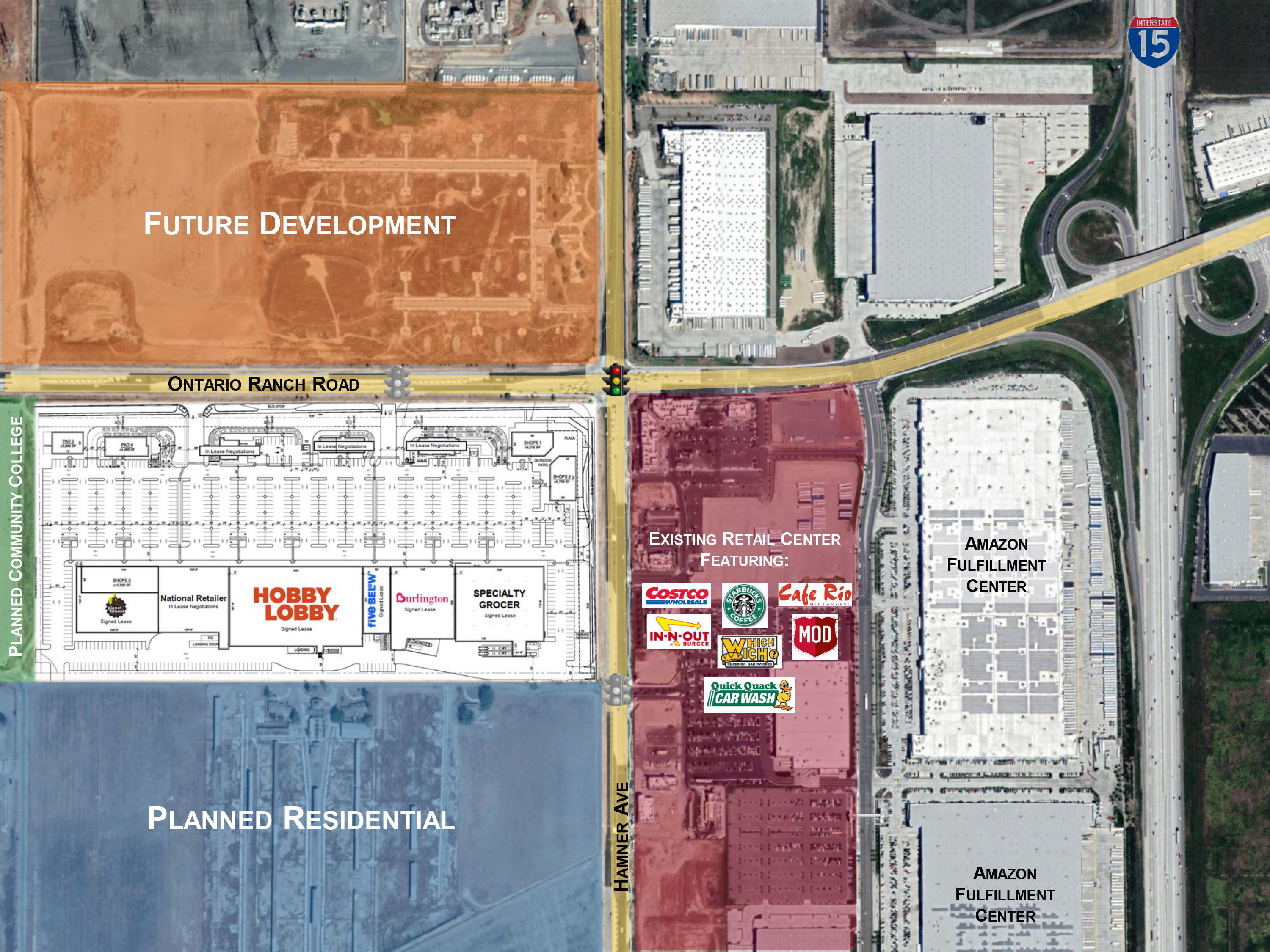 Wood Investments Companies Buys 19.6 Acres to Develop Shopping Center with National Grocer, Burlington, Five Below, Hobby Lobby and Planet Fitness in Ontario, Calif.