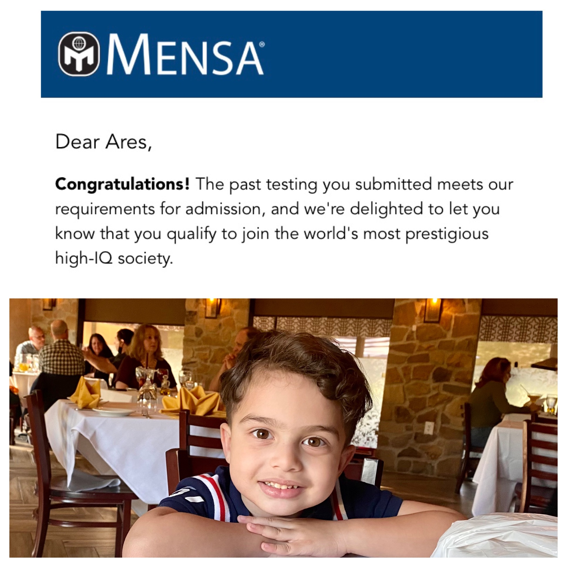 Ares Mason Miller from Staten Island, NY Creates History as One of the Youngest Members of MENSA.