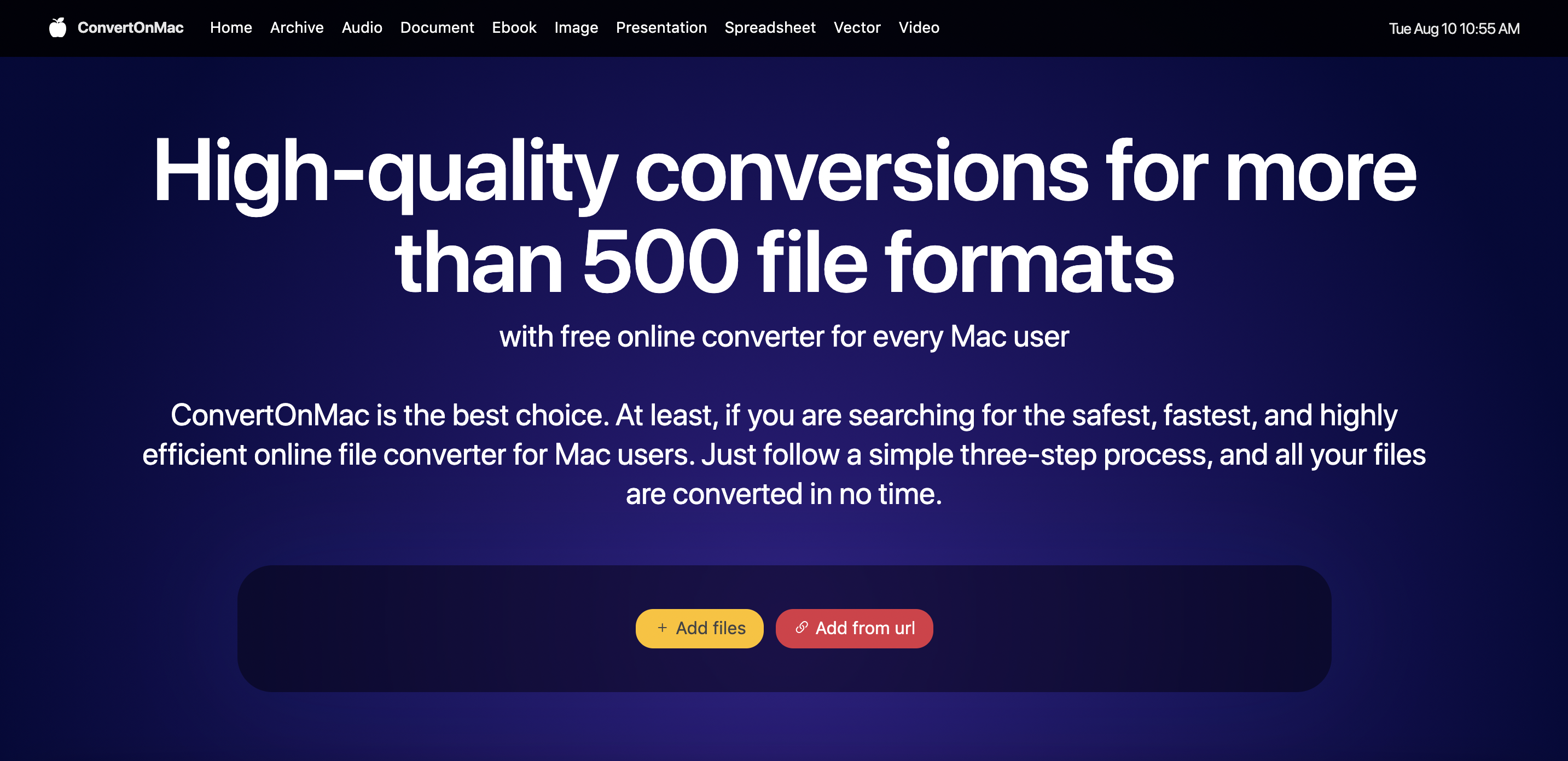 Release of innovative free online converter ConvertOnMac is official