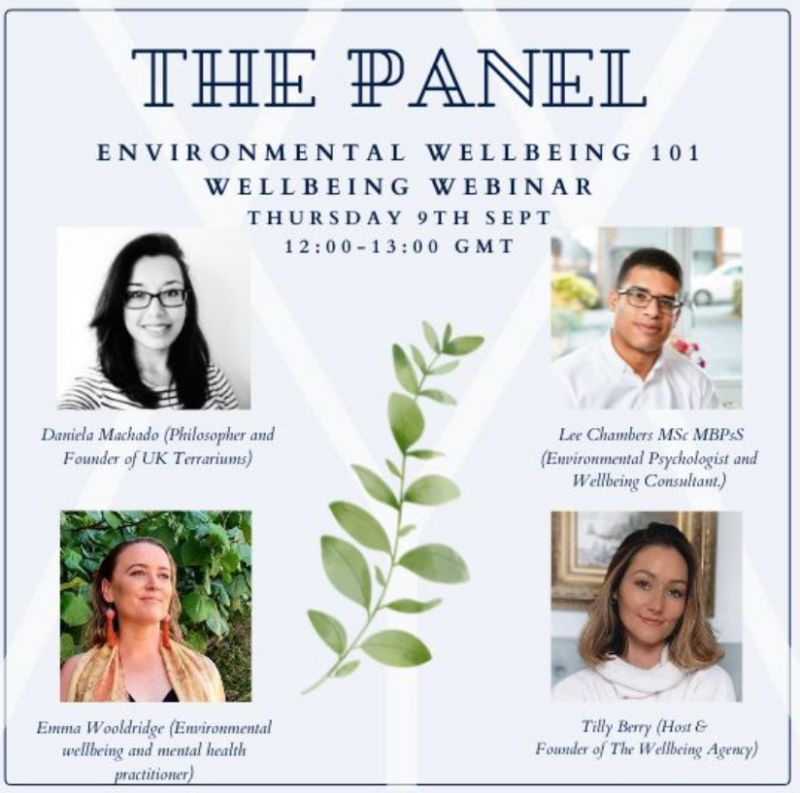 Lee Chambers to speak on the Wellbeing Agency's Environmental Wellbeing Panel