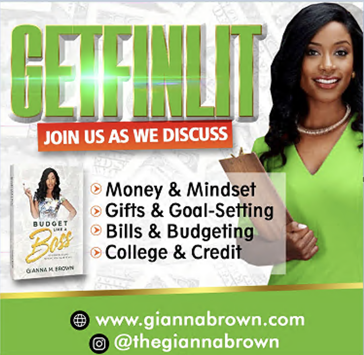 Financial Literacy Coach, Gianna Brown Launches 2 New Books, 'Budget Like A Boss' And 'Just Rise Up Hitting The Scene'