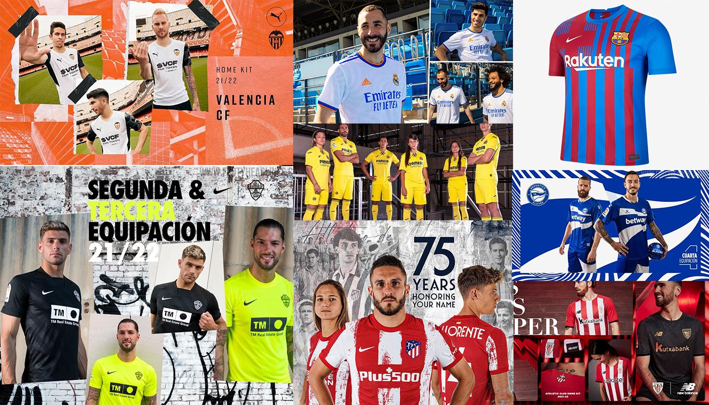 Nuevas Camisetas De La Liga Para La Temporada 2021 - 2022