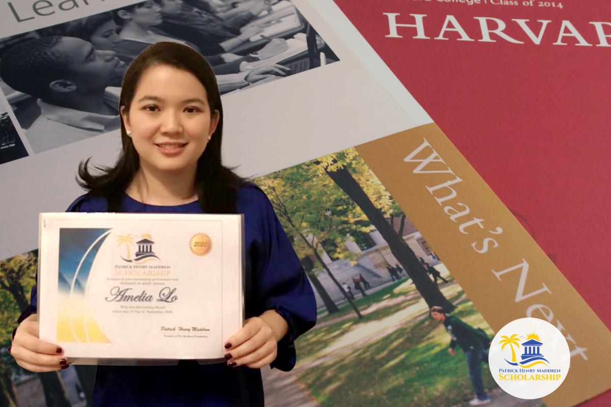 Amelia Lo of Harvard College - Inaugural Recipient of the Patrick Henry Maddren Scholarship