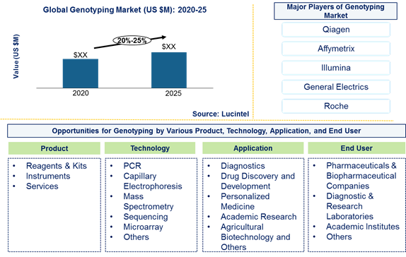 Genotyping market is expected to grow at a CAGR of 20%-25% by 2026- An exclusive market research report by Lucintel