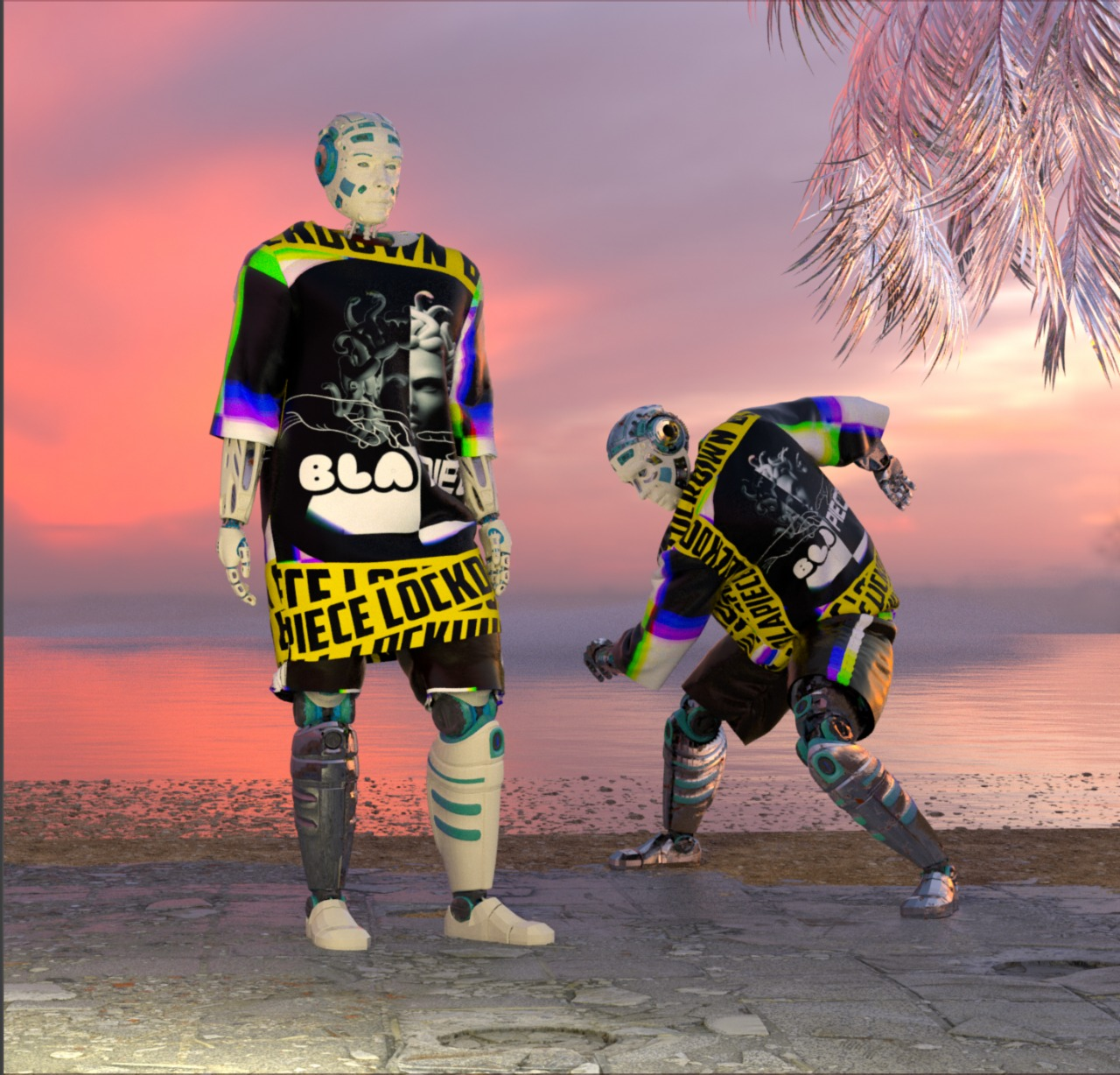New Fashion Line, Blapiece, Stuns With Robot Models And Technology-Savvy Brand