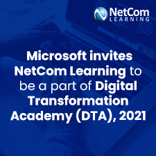 Microsoft invites NetCom Learning to be a part of Digital Transformation Academy (DTA), 2021