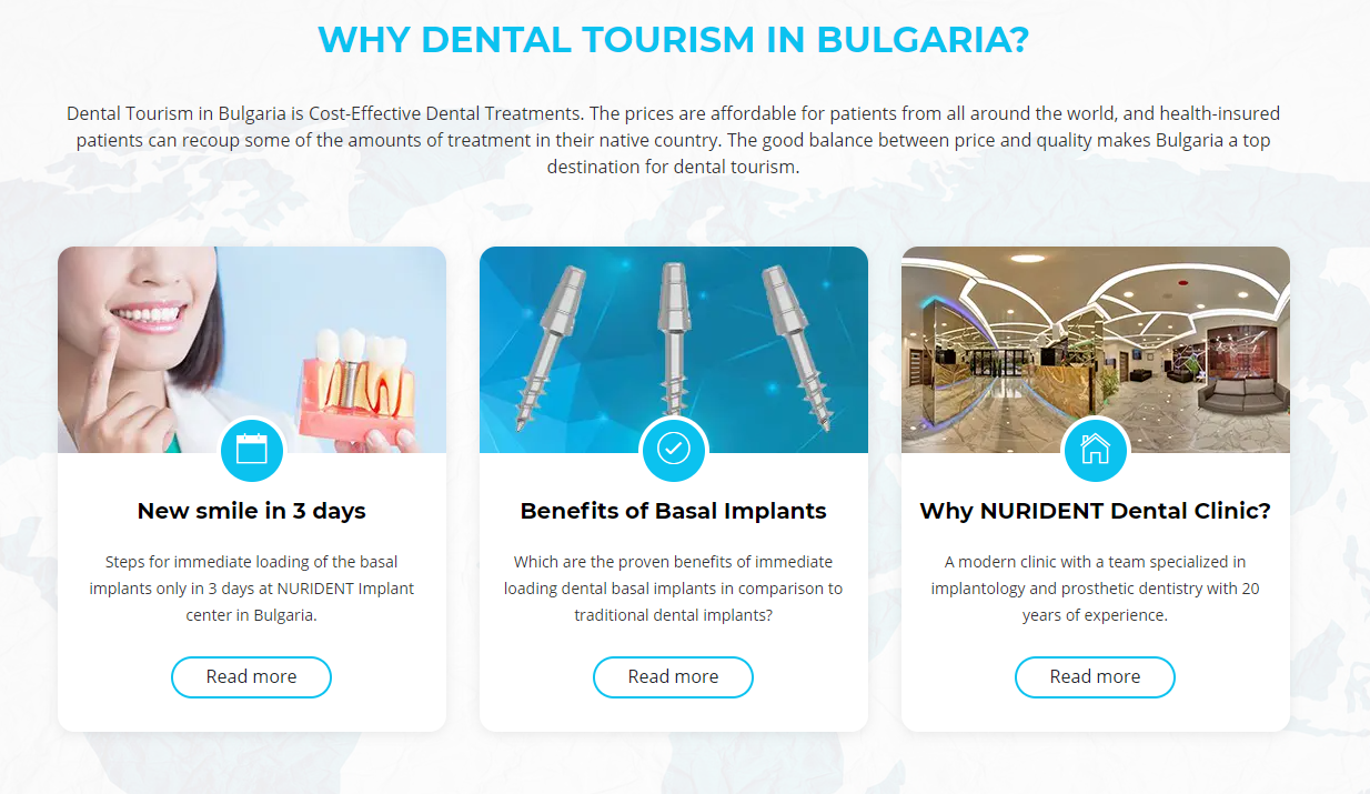 Nurident Offers Cost-Effective Dental Implants, Smile Recovery and Dental Tourism in Sofia Bulgaria With Interpreter Services