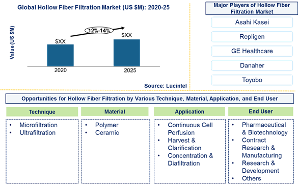 Hollow fiber filtration market is expected to grow at a CAGR of 12%-14% by 2025 - An exclusive market research report by Lucintel