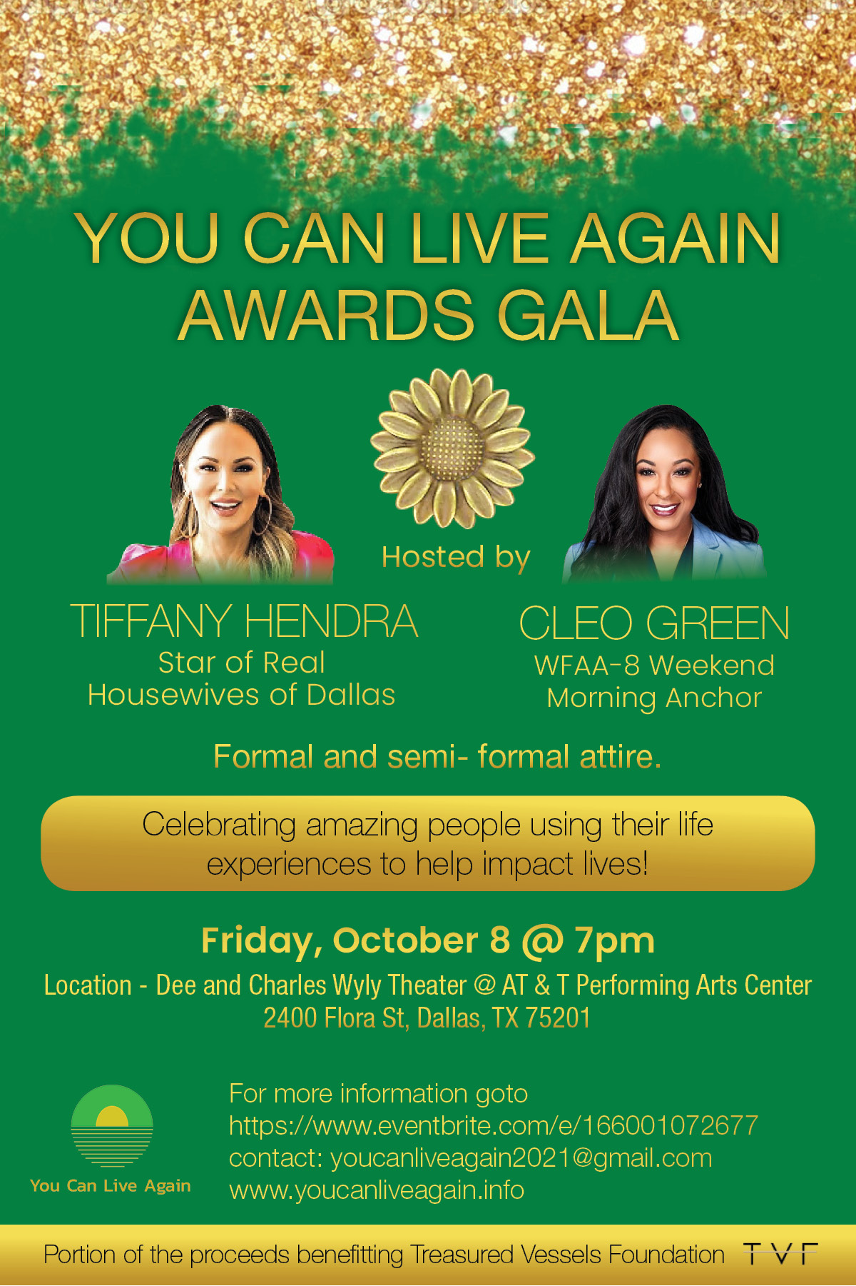You Can Live Again Awards Gala 2021 Will Be Co-hosted by Tiffany Hendra of 'Real Housewives of Dallas'