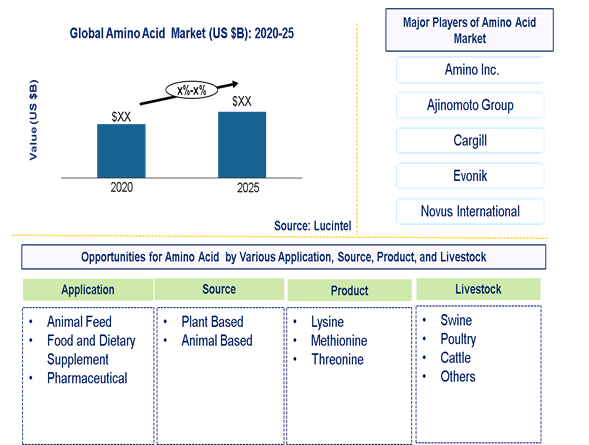 Amino Acid Market is expected to grow at a CAGR of 7%-8% - An exclusive market research report by Lucintel