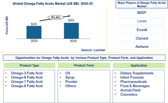 Omega Fatty Acid Market is expected to grow at a CAGR of 5%-6% - An exclusive market research report by Lucintel