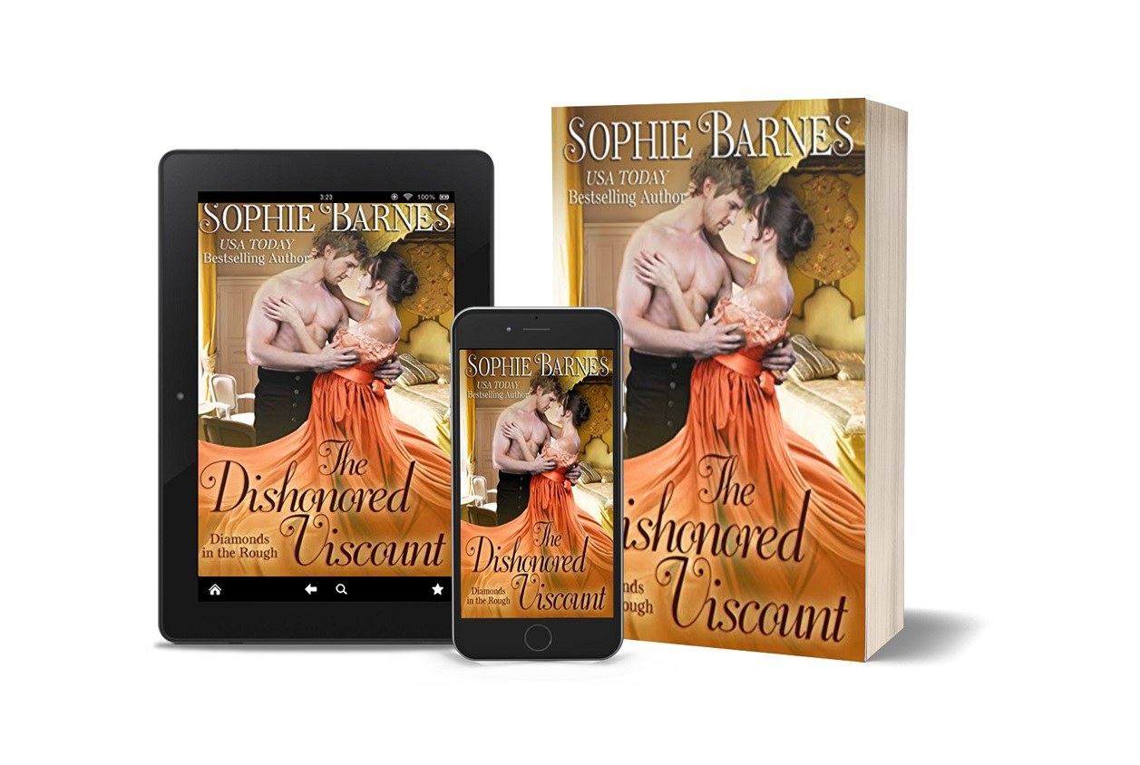 USA Today Best-Selling Author Sophie Barnes Releases New Regency Romance - The Dishonored Viscount