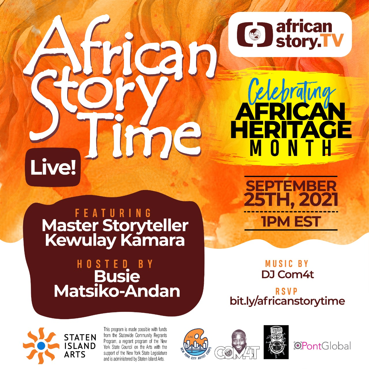 Africanstory.Tv Celebrates African Heritage Month With A Live Storytelling Broadcast