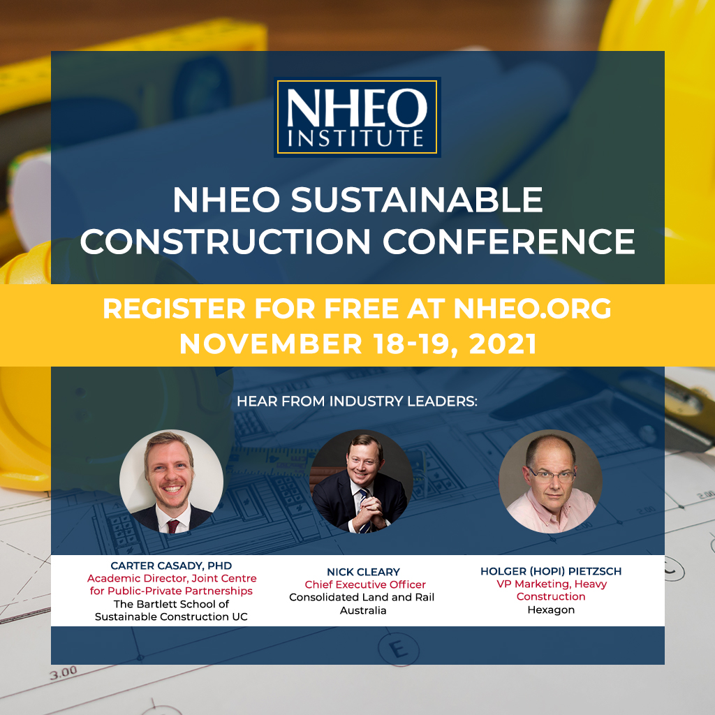 NHEO Institute for Sustainable Construction Holding Virtual Conference