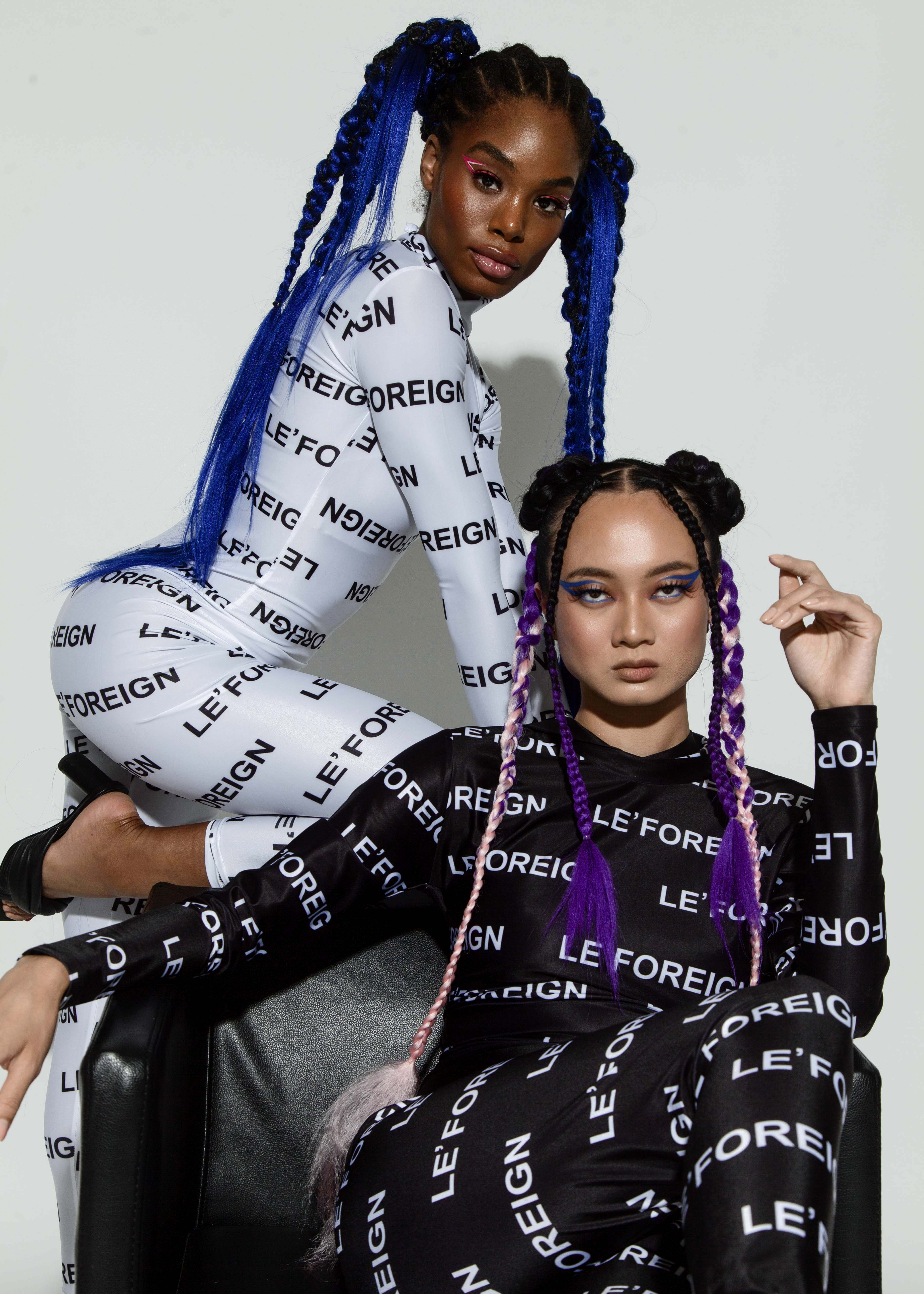 Le' Foreign fuses style and functionality in black and white activewear collection