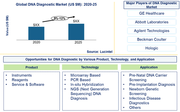DNA diagnostic market is expected to grow at a CAGR of 9%-12% by 2026 - An exclusive market research report by Lucintel
