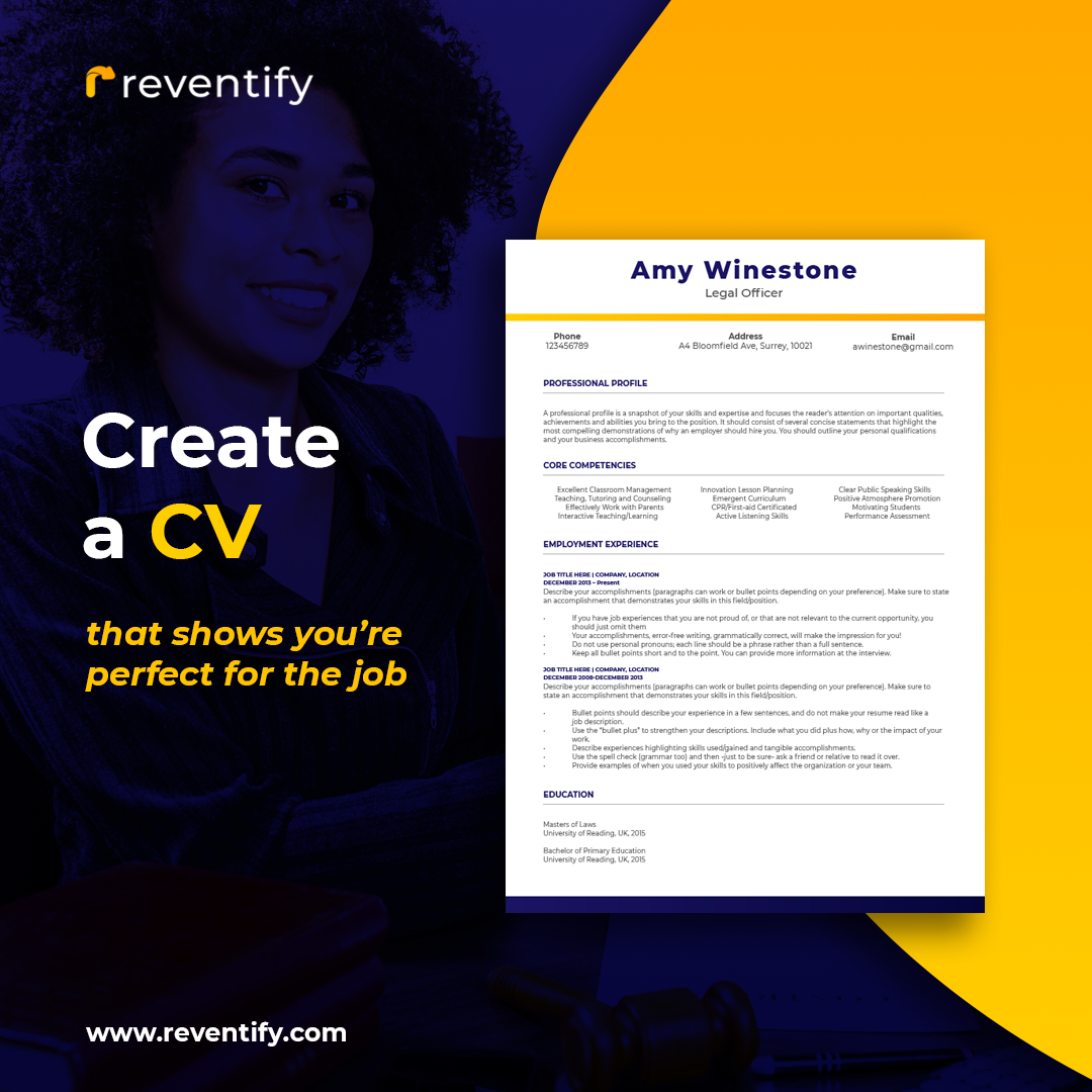 Reventify Leverages Technology To Create The Perfect CV In 10 Minutes