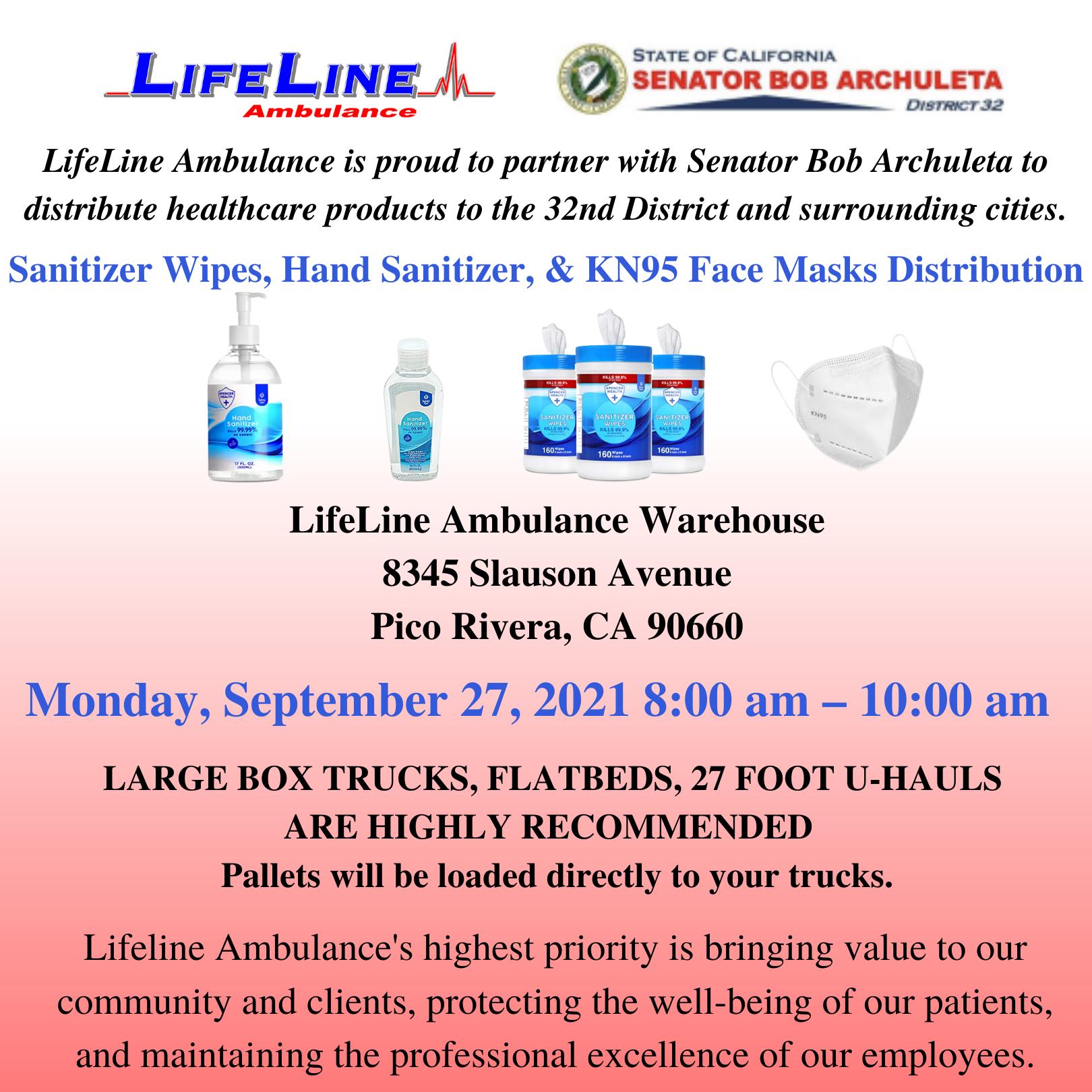 LifeLine CEO Maxim Gorin Partnered With Senator Bob Archuleta Providing PPE To California Establishments