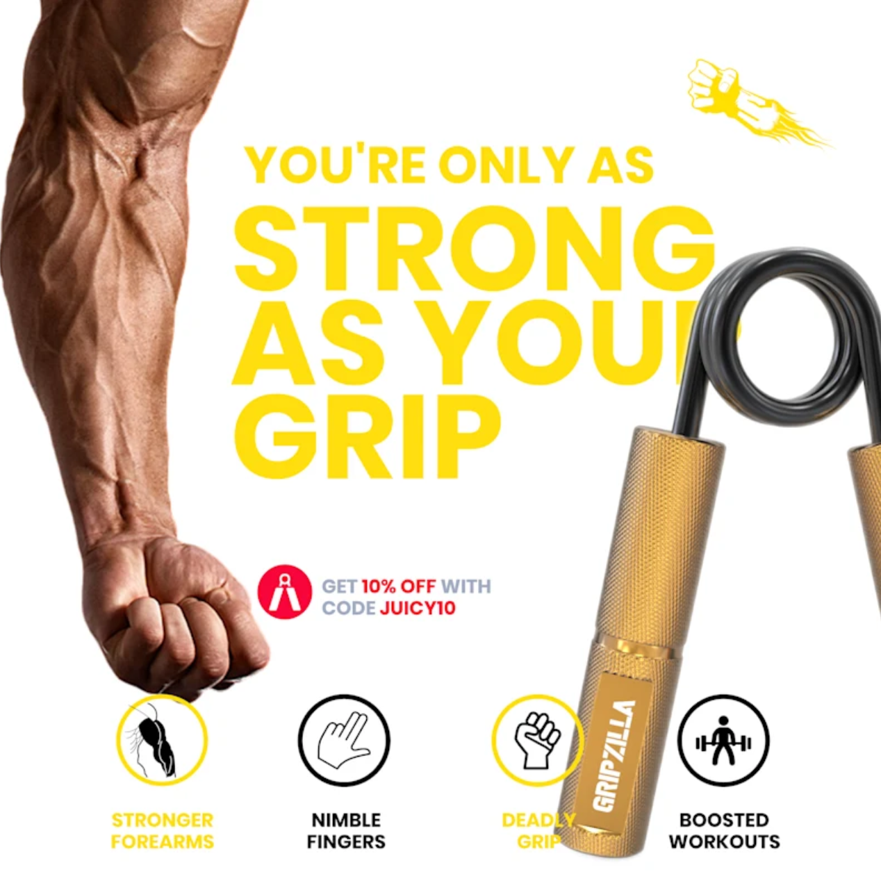 GRIPZILLA - Meet The Ultimate Grip Training Kit For Wellness And Fitness Enthusiasts