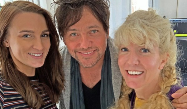 Susan Goforth and Sandy Chila songwriters of the happy pop hit TOMORROW'S TODAY #TOMORROWSTODAY #tomorrowstoday