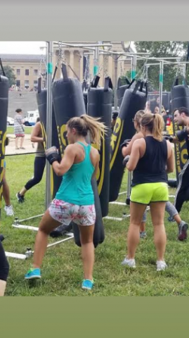 CKO KICKBOXING OFFERS FREE OUTDOOR CLASSES AT THE WORLD FAMOUS ROCKY