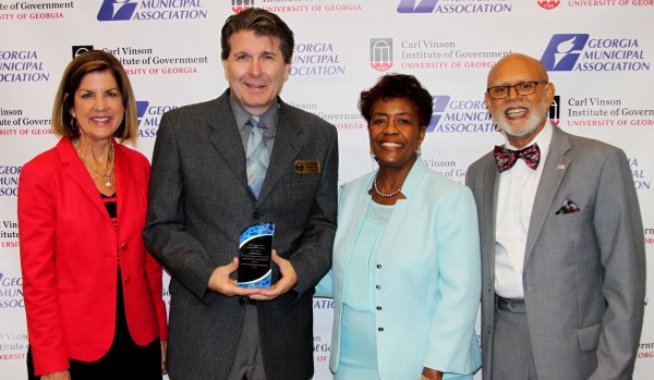 Randall Franks (second from left) receives the GMA Certificate of Distinction