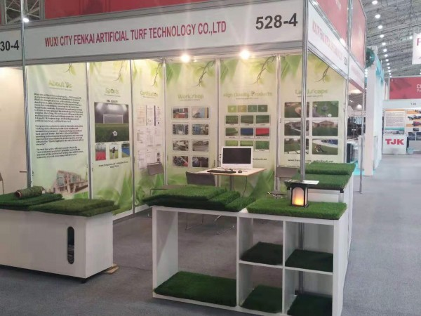 Artificial turf company report positive interaction at Shanghai expoArtificial turf company report positive interaction at Shanghai expo