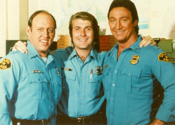 In the Heat of the Night Actors, from left, David Hart, Randall Franks and Alan Autry (Photo: Autry-Franks Productions/Ned Burris)
