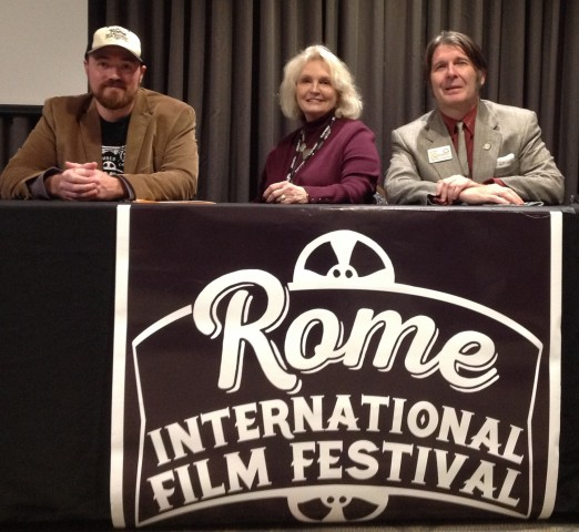 Randall Franks (right) joins Producer/Casting Director Shay Bentley Griffin and Seth Ingram to speak at Rome International Film Festival in 2019. (Randall Franks Media)